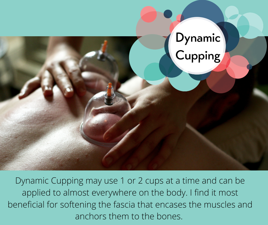 Two handed dynamic cupping. Dynamic cupping can be applied anywhere and is most helpful on the fascia.